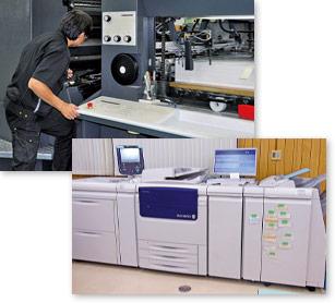 オフセット印刷機とオンデマンド印刷機